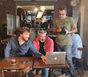 Campagne de sensibilisation des entrepreneurs CorioLink pour la GSC, tournage du spot publicitaire